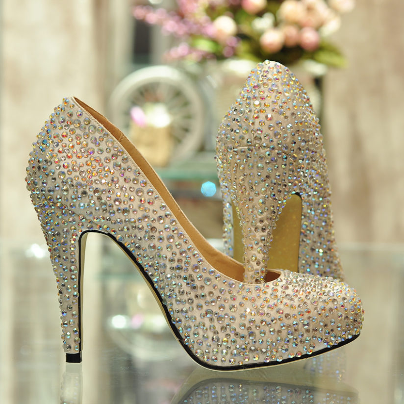 Photo ofLuxury crystal high heels for 2014