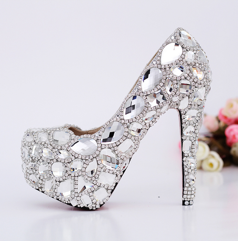 56abe29b72ffa8 Luxury crystal high heels for 2014