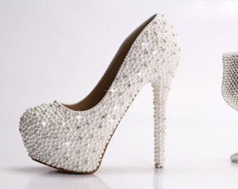 crystal high heels