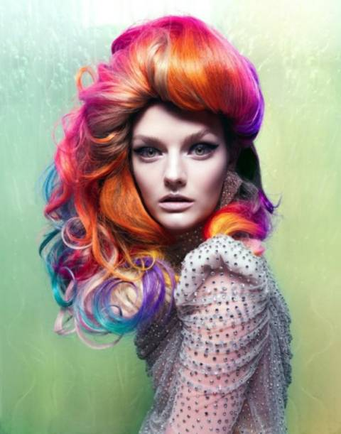 Colorful Hair Color   women platform