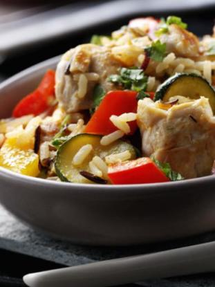Mediterranean Turkey with Rice