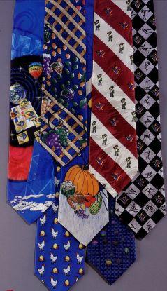 Tie with cartoon designs
